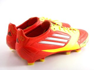 Adidas Adizero F50 II Red Yellow White Leather Le Soccer Cleats Boots