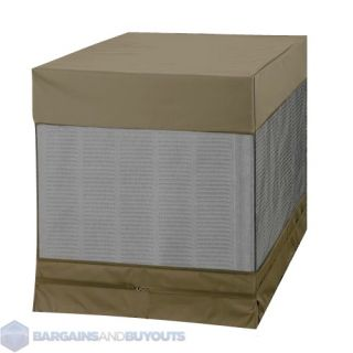 Heavy Duty Polyester Outdoor Air Conditioner Cover Moss Brown 410835
