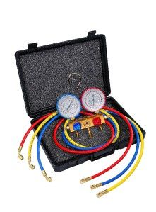 Air Conditioning Manifold Gauge & Hose Multi Gas Javac