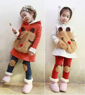 Cute Kids Toddlers Bear Sweatshirts Girls Long Sleeve Hoodies for
