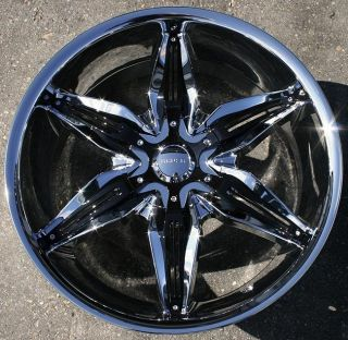 Akuza Rissa 20 Chrome Rims Wheels Lincoln Continental Ford