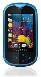 NEW IN BOX ALCATEL OT 708a ONE TOUCH MINI BLUE UNLOCKED PHONE