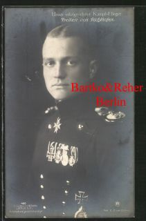 German WWI Flying Ace RICHTHOFEN Red Baron w/ Decorations SANKE 450