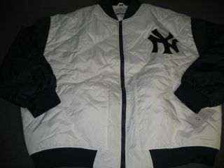 MLB New York Yankees Quilted Jacket Mens 2X Big Tall Nwt Majestic Free