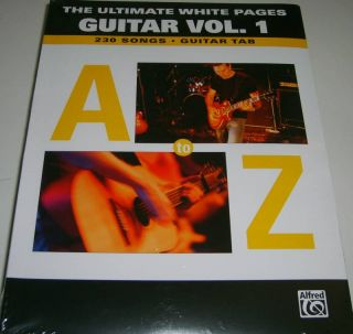 The Ultimate White Pages Guitar Vol 1 Tab Songbk A Z