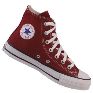Converse All Star Hi Canvas Pumps Trainers Shoes Maroon Red Size 3 11