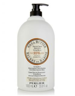 Perlier 1 Liter Shea Butter with Sweet Almond Milk Ultra Rich Cream