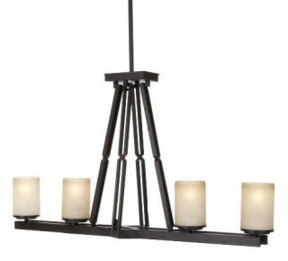 Hampton Bay Alta Loma 4 Light Glass Kitchen Island Chandelier Dark