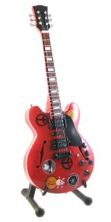 Miniature Guitars Alvin Lee Gibson ES 335 Big Red Custom Ten Years