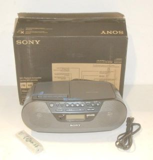 Sony AM/FM Radio Cassette Player CD R/RW with  Playback CFD S07