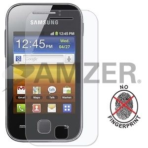 Amzer Anti Glare Screen Protector with Cleaning Cloth for Samsung