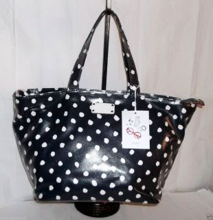 348 AUTH KATE SPADE DIZZY DOT ANABEL NAVY BABY DIPAER BAG NEW