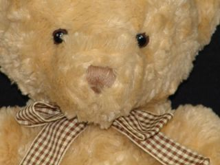 Brown Gingham Bow Teddy Bear Animal Alley Plush Stuffed Lovey