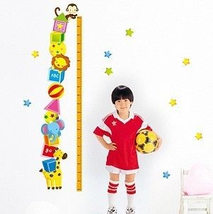 Animas Kids Height stickers wall Decal Removable Art Decor Home Kid