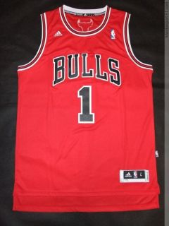 Derrick Rose 1 Chicago Bulls Rev 30 Swingman Jersey s XXL Red