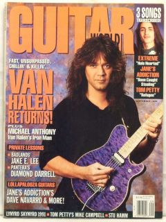 Guitar World Magazine Eddie Van Halen Michael Anthony Dimebag Darrell