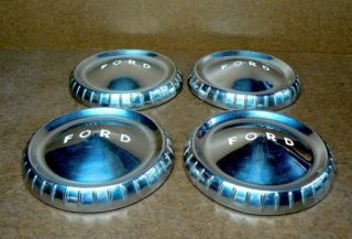 vintage ford dog dish hub caps good condition vintage original parts