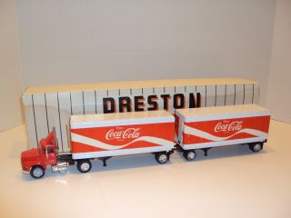 1970s Coca Cola Preston Truck w Double Trailers