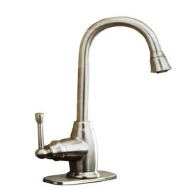 AquaSource Brushed Nickel Single Handle Bar Prep Faucet Model