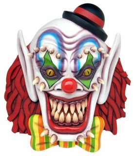 Giant Evil Hanging Clown Head   Halloween Prop   PICK UP ONLY