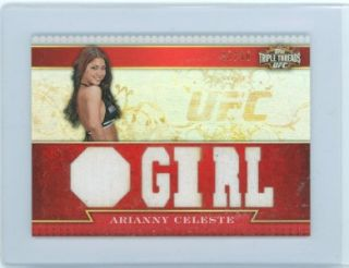 Arianny Celeste 2012 Topps UFC Knockout Triple Threads Relics 33 36