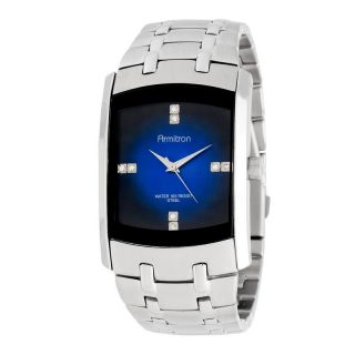 Armitron Mens Dress SS Watch Blue/Black 204507DBSV, 204507DRSV