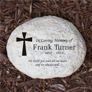 PERSONALIZED IN LOVING MEMORY ENGRAVED MEMORIAL SMALL GARDEN STONE