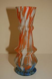 Art Deco Multicolor Glass Vase Bohemian Czech 1920´S