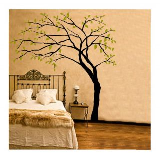Tree Vinyl Decal Sticker Wall Art Room Decor Removable Mural Leaves