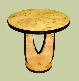 Art Deco Style Elm Large Side Occasional Table