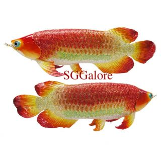 Crystal Bejeweled Golden Arowana Fish Trinket Minaudiere Box