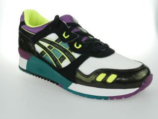 asics gel lyte iii hq71g new mens white black shoes