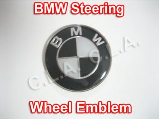 black bmw steering wheel emblem 45mm a575