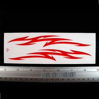 Red Flame Tattoo Car Racing Bike Decal Sticker 2x7