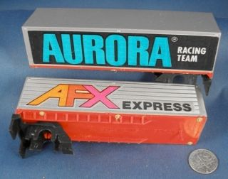 1979 Aurora AFX Express Team Slot Car Trailers Deco