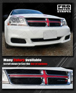 Dodge Avenger Front Grille Cross Insert Stripe 2008 2009 2010 2011
