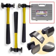 Auto Body Fiberglass Handle Fender Kit Hammers Dolly Dent Repair Tools