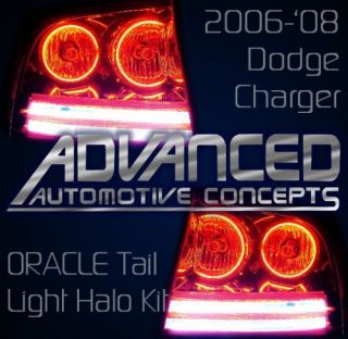 Dodge Charger Tail Light Halo Demon Eye Kit w Reverse