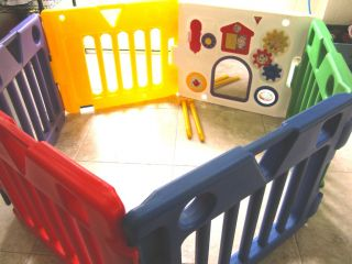 Todays Kids PLAYYARD playpen play pen yard Gate Child Baby COMPLETE