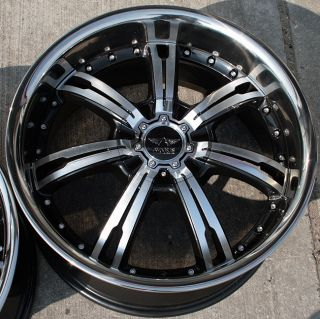 Avarus AV4 19 Black Rims Wheels BMW E39 E60 5 Series
