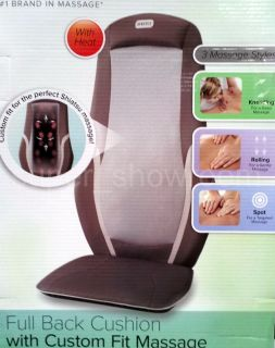 Shiatsu Back Massage Cushion For Chair With Heat 3 Style Massager