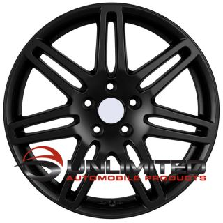 18 RS4 Wheels Rims Matte Black Fit Audi S4 B5 B6 B7 B8