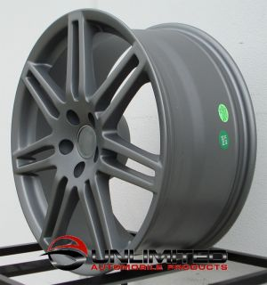 18 RS4 Wheels Rims Matte Gunmetal Fit Audi A4 B5 B6 B7 B8