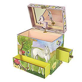 Enchantmints Childrens Musical Jewelry Box Fairy Horse
