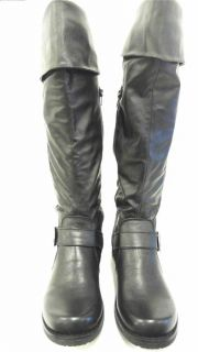 Bare Traps Jockey Womens Knee High Boots Sz 9 M Black 1 Heel Solid