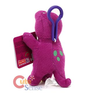 Barney Dinosaur Plush Doll Key Chain Clip on Hanging Plush