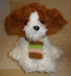 Dress Barn Puppy Dog Fluffy Soft Plush Stuffed Toy Animal