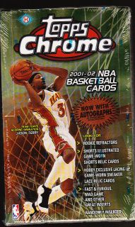 SEALED 2001 2002 TOPPS CHROME BASKETBALL TRADING CARD BOX HOBBY