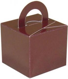 Chocolate Brown Balloon Weight Favour Gift Boxes x 10