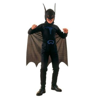 Childs Boys Bat Boy Fancy Dress Up Cape Costume Super Hero Batman